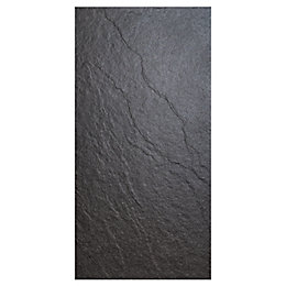 Chambly Black Stone effect Porcelain Wall & floor
