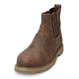 Site Brown Mudguard Dealer boot, size 10