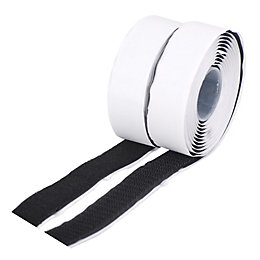 Diall Black Hook & loop tape (L)5m (W)20mm