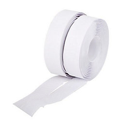 Diall White Hook & loop tape (L)5m (W)20mm