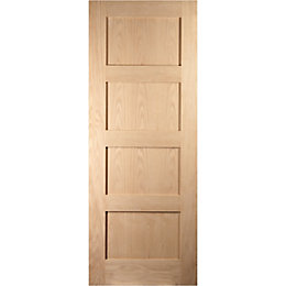 4 Panel Shaker Oak veneer Internal Sliding door,