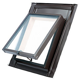 Anthracite Aluminium Top hung Skylight (H)550mm (W)450mm