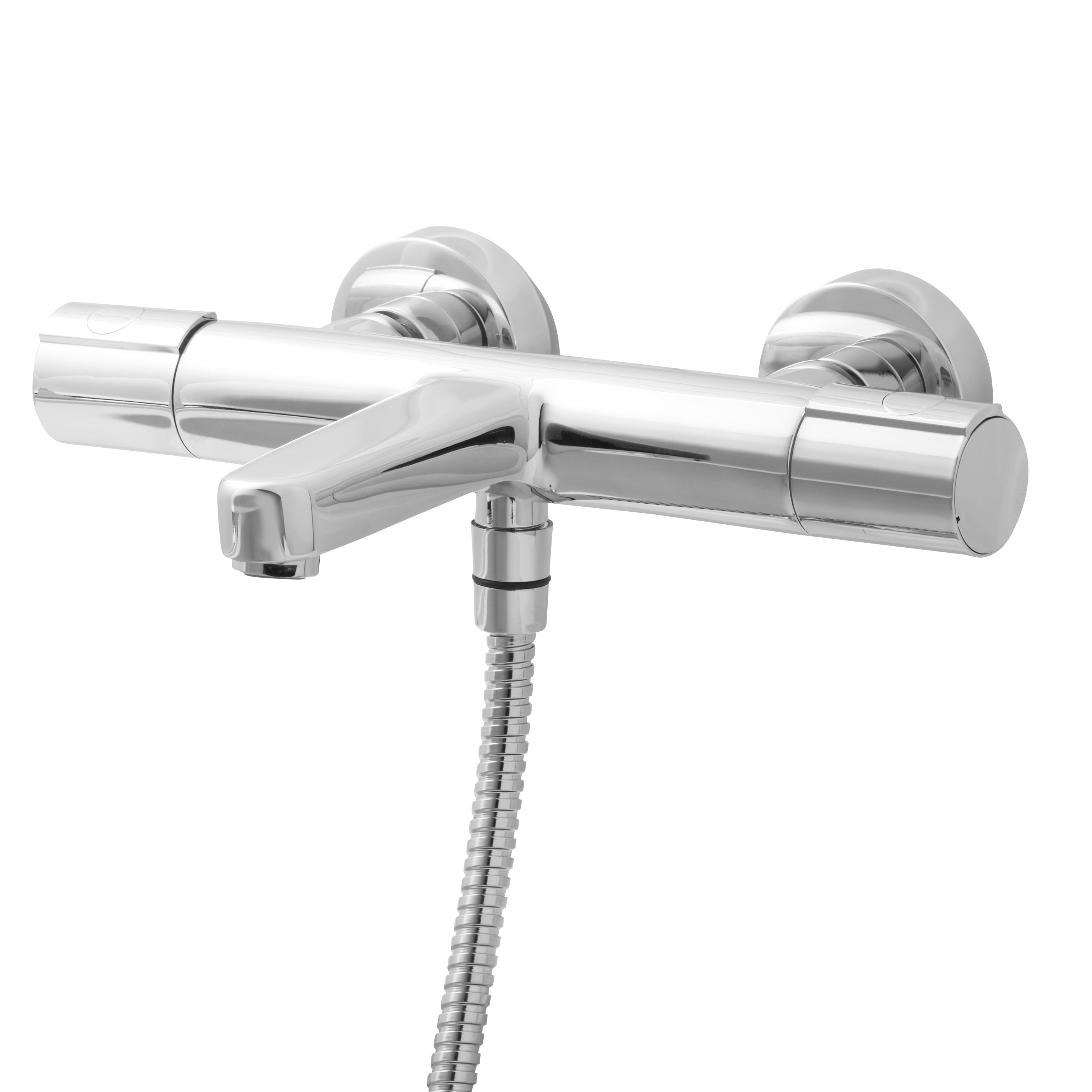 cooke lewis berrow chrome plated thermostatic bath. Black Bedroom Furniture Sets. Home Design Ideas