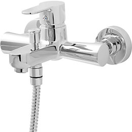 Cooke & Lewis Lecci Chrome plated Monobloc bath/shower