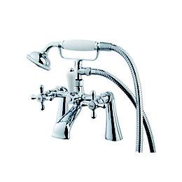 Cooke & Lewis Etel Chrome plated Bath shower
