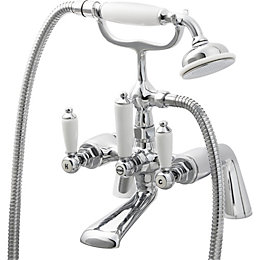 Cooke & Lewis Brean Chrome plated Bath shower
