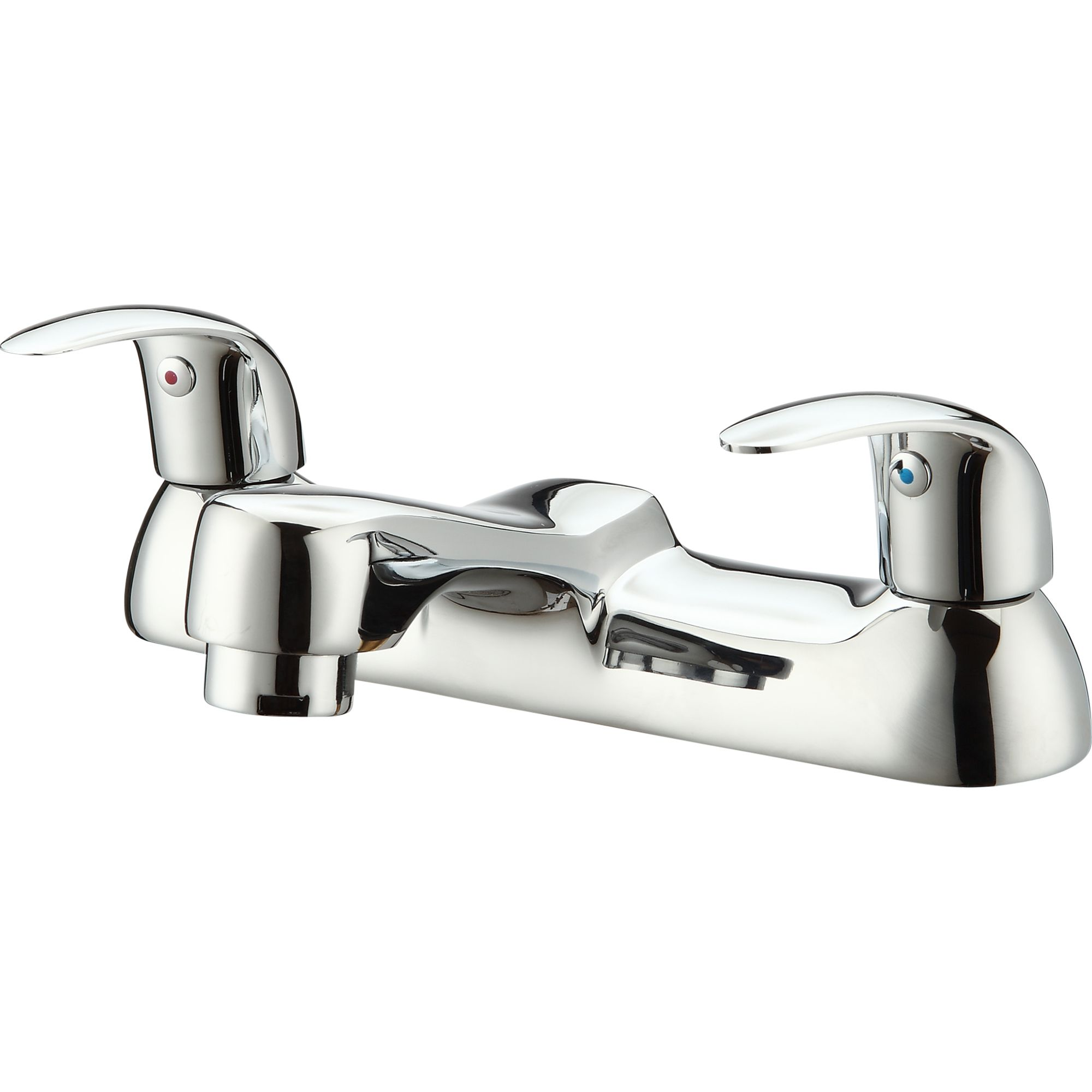 GoodHome Blyth Chrome plated Bath Mixer Tap | Departments ...