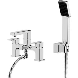 Cooke & Lewis Wydon Chrome plated Bath shower