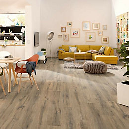 Etna Dark oak effect Laminate flooring 1.985 m²