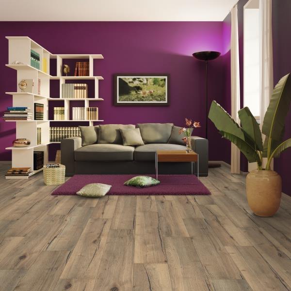 Nabro Medium oak effect Laminate flooring 1.736 m²