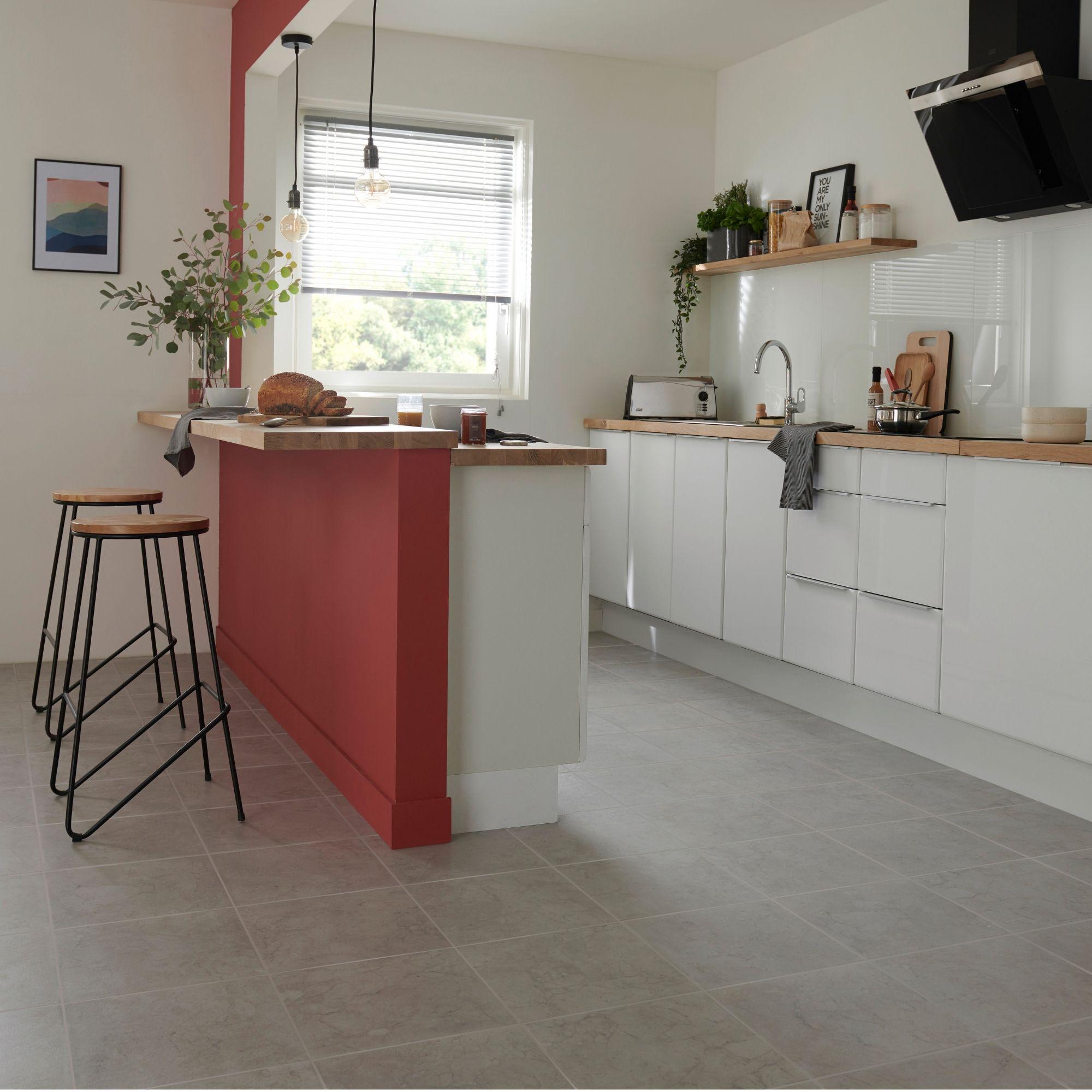 Marble Effect Ceramic Floor Tile