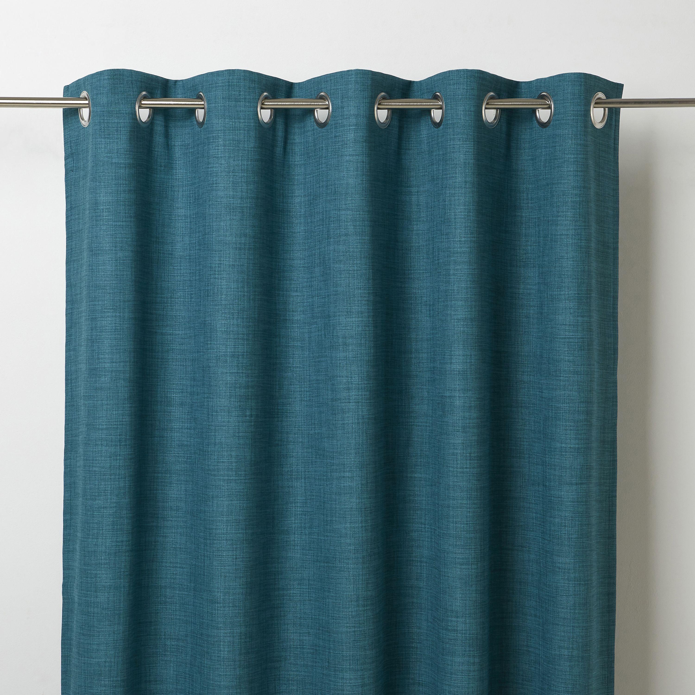 Novan Blue Plain Blackout Eyelet Curtain W 117cm L 137cm Single Departments Diy At B Q