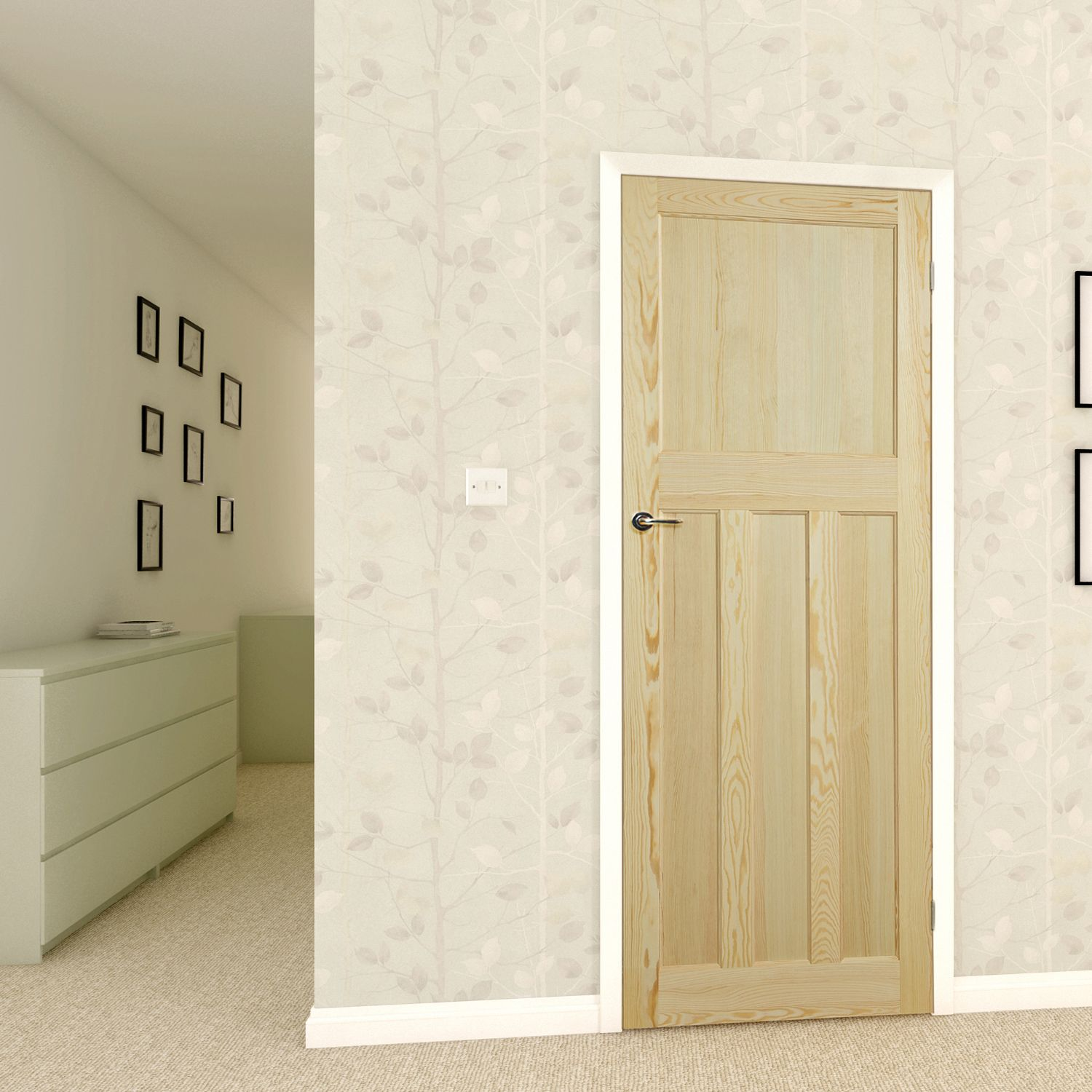 Traditional Clear pine Internal Standard Door, (H)1981mm (W)838mm