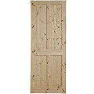 4 Panel Knotty pine Internal Door, (H)1981mm (W)762mm