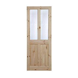 4 Panel Knotty pine Internal Standard Door, (H)1981mm