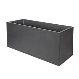 Durdica Rectangular Dark Grey Trough (H)430mm (L)1000mm