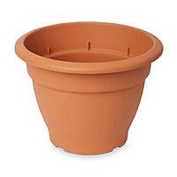 Florus Round Brown Bell pot (H)220mm (Dia)300mm
