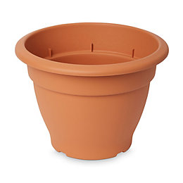 Florus Round Brown Bell pot (H)220mm (Dia)300mm