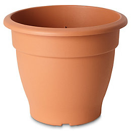 Florus Round Brown Bell pot (H)280mm (Dia)380mm