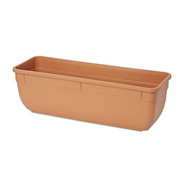 Florus Rectangular Brown Bell trough (H)150mm (L)450mm