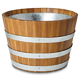 Denia Round Wooden Pot (H)320mm (Dia)540mm