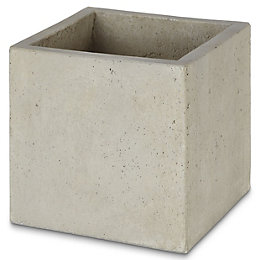 Hoa Square Light grey Pot (H)300mm (L)300mm