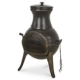 Blooma Diogo Cast iron & steel Chiminea