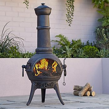 Blooma Etinas Cast Iron & Steel Chimenea