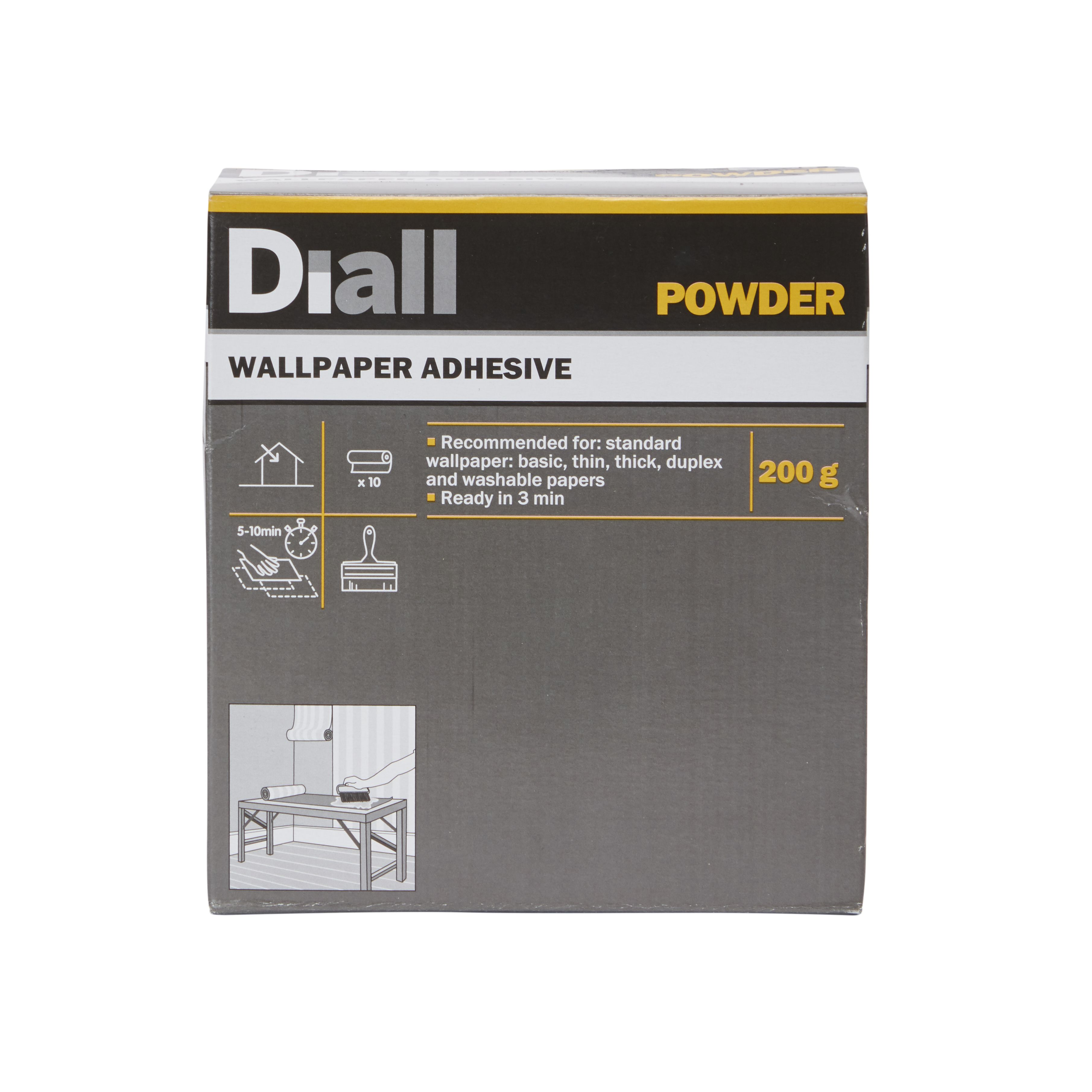 Diall Wall Paper Glue Wallpaper Adhesive 200 G Departments Diy