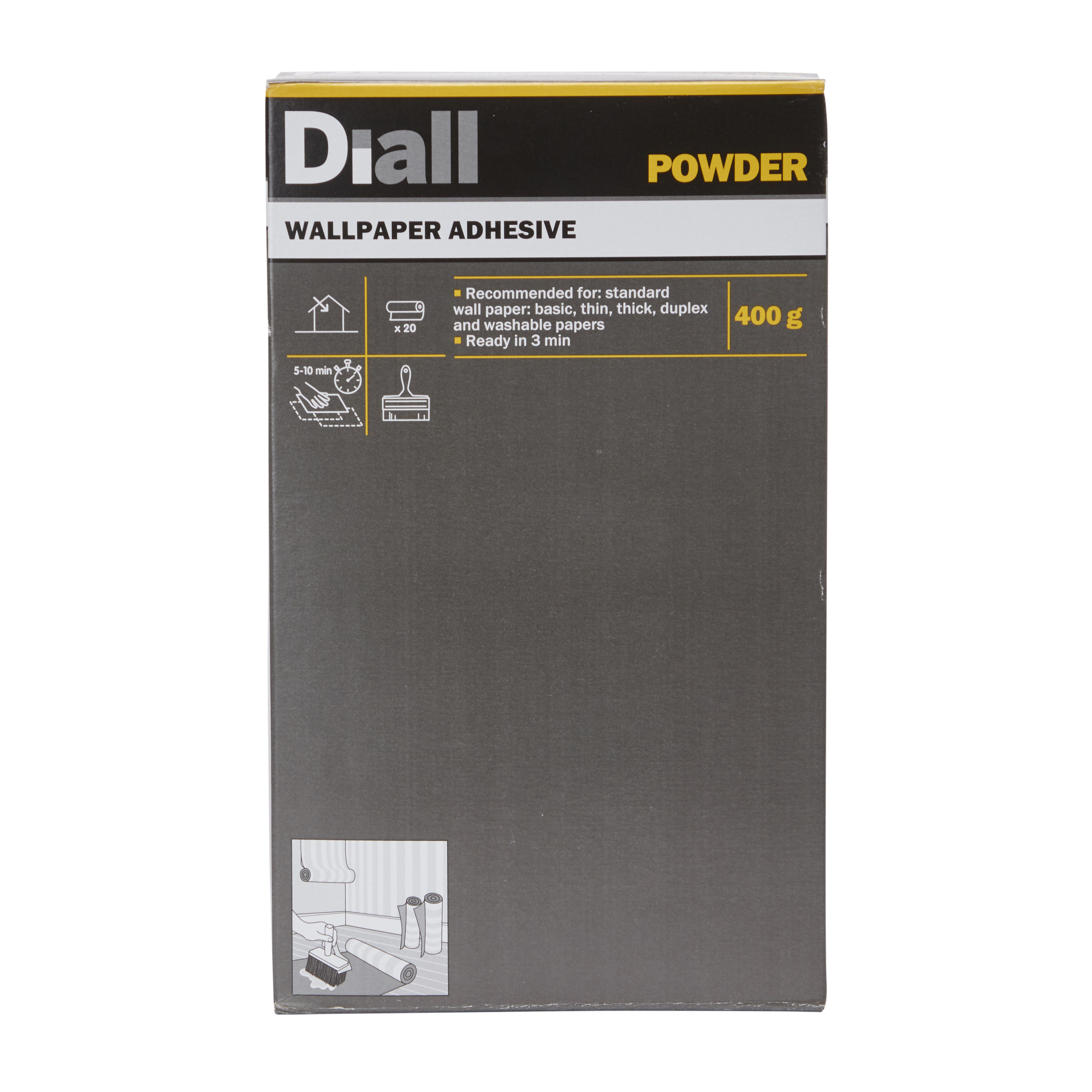 Diall Wall paper glue Wallpaper Adhesive 400 g ...