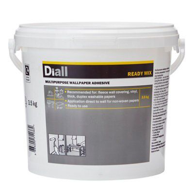 Diall Wall Paper Glue Ready To Use Wallpaper Adhesive 3 5 Kg