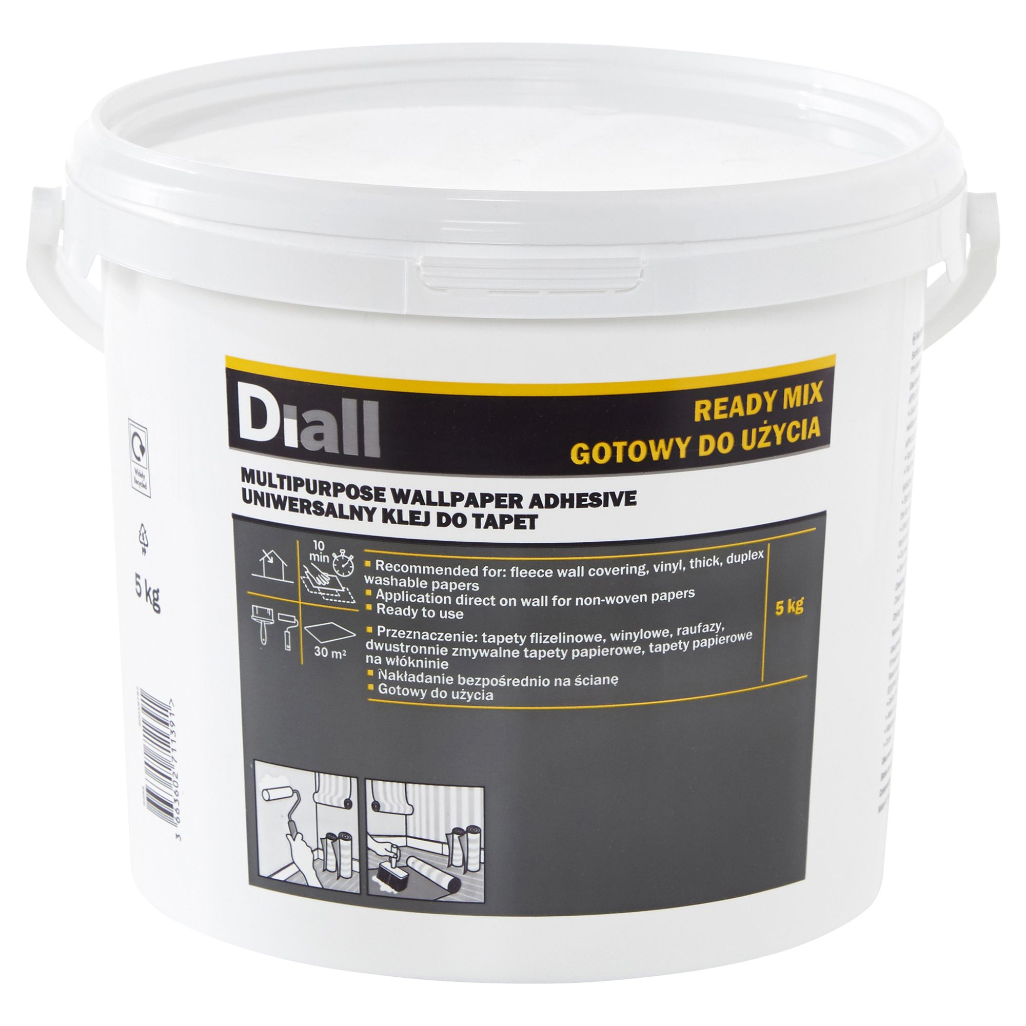 Diall Wall Paper Glue Ready To Use Wallpaper Adhesive 5 Kg