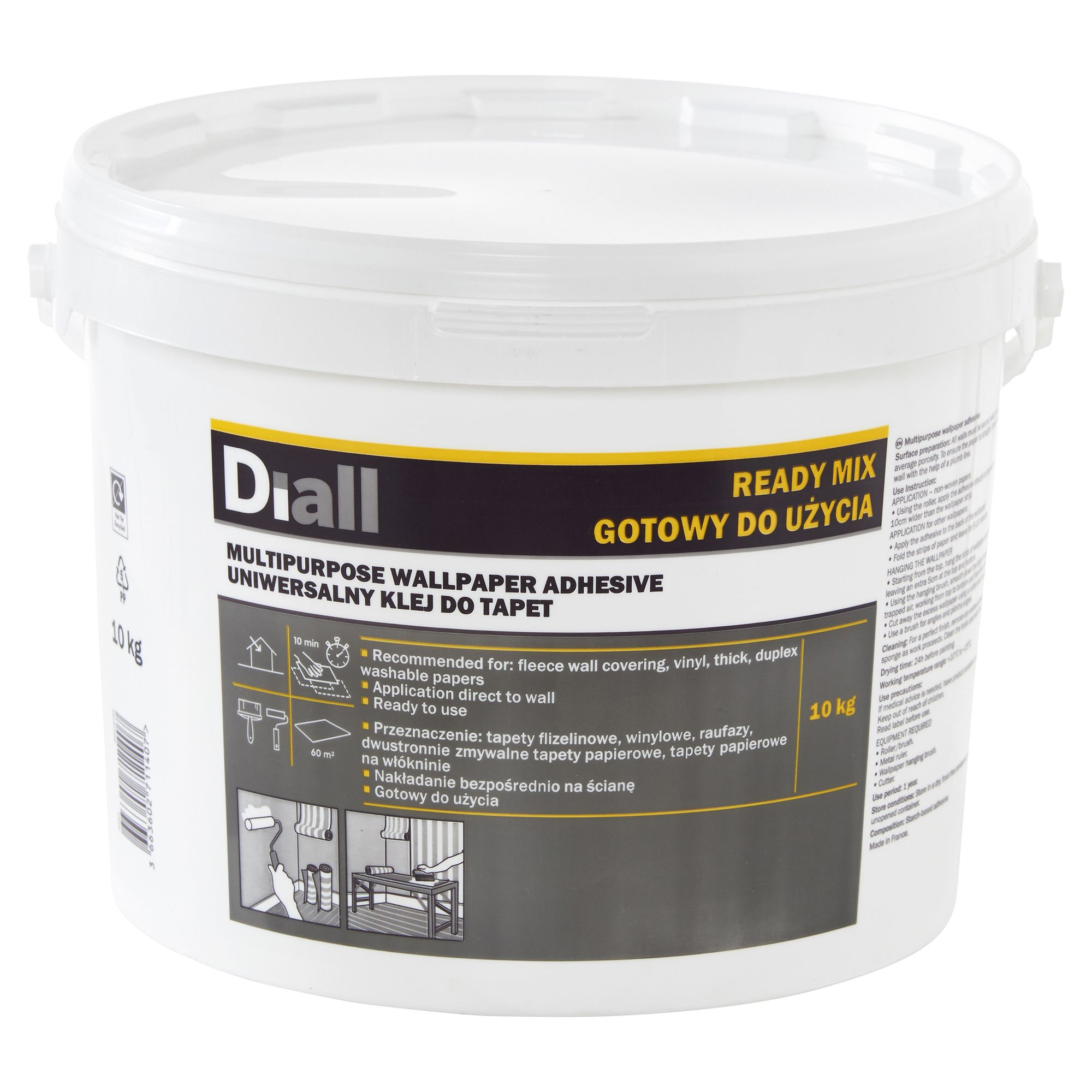 Diall Wall Paper Glue Ready To Use Wallpaper Adhesive 10 Kg Departments Diy At B Q