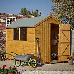 8X6 Apex Shiplap Wooden Double Door Shed