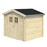 7x6 MOKAU Apex roof Tongue & groove Wooden Shed