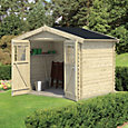 8x6 MOKAU Apex roof Tongue & groove Wooden Shed