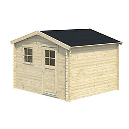 10x9 BELAÏA Apex roof Tongue & groove Wooden