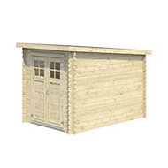9x6 BELAÏA Pent roof Tongue & groove Wooden Shed