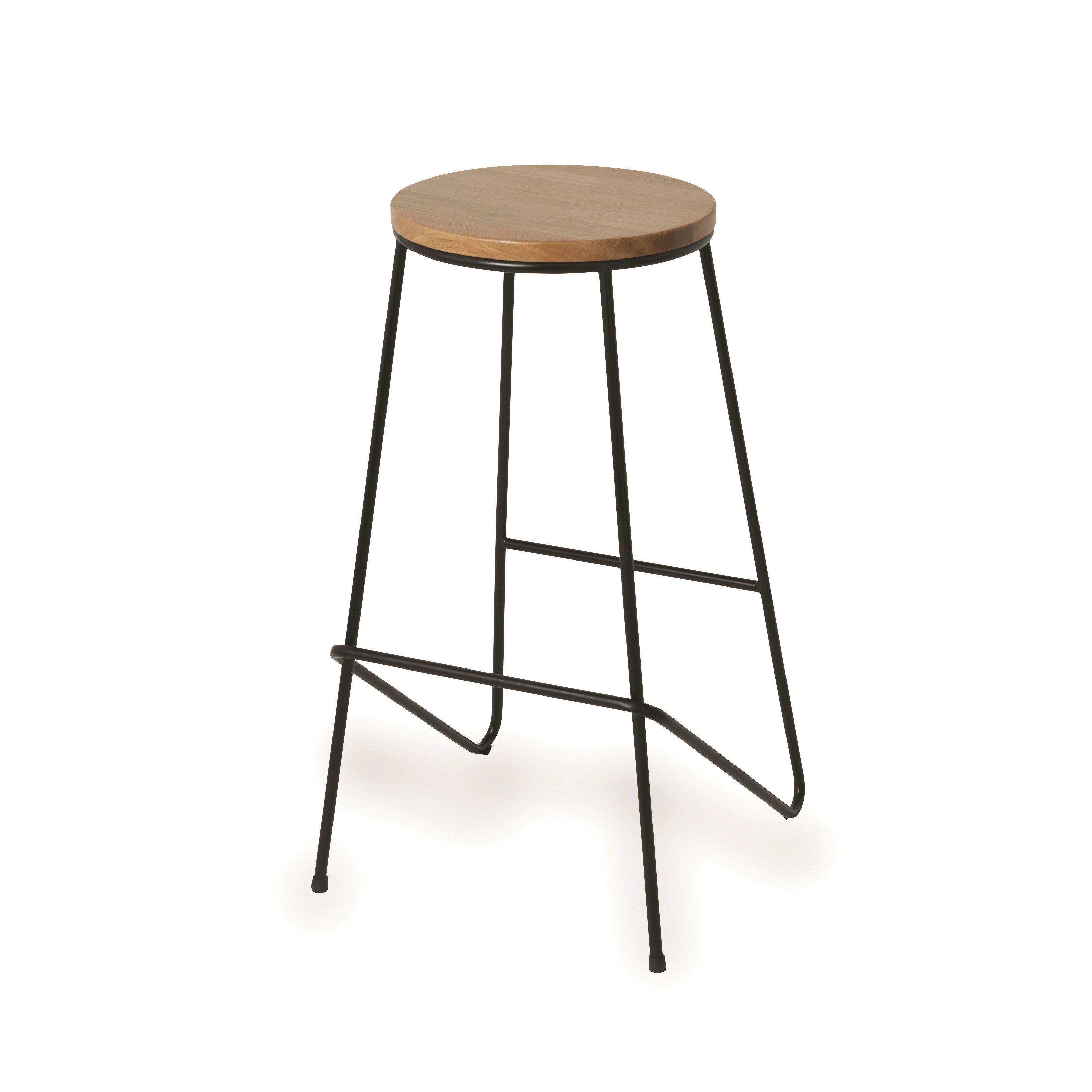 maloux black bar stool h 710mm w 400mm departments diy at b q