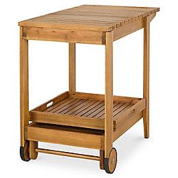 Denia Wooden Garden Trolley