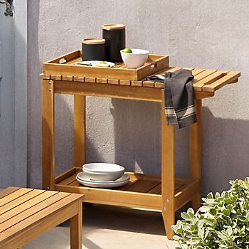Denia Wooden Garden Trolley