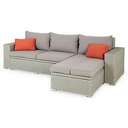 Gabbs Rattan effect 3-4 seater Garden sofa