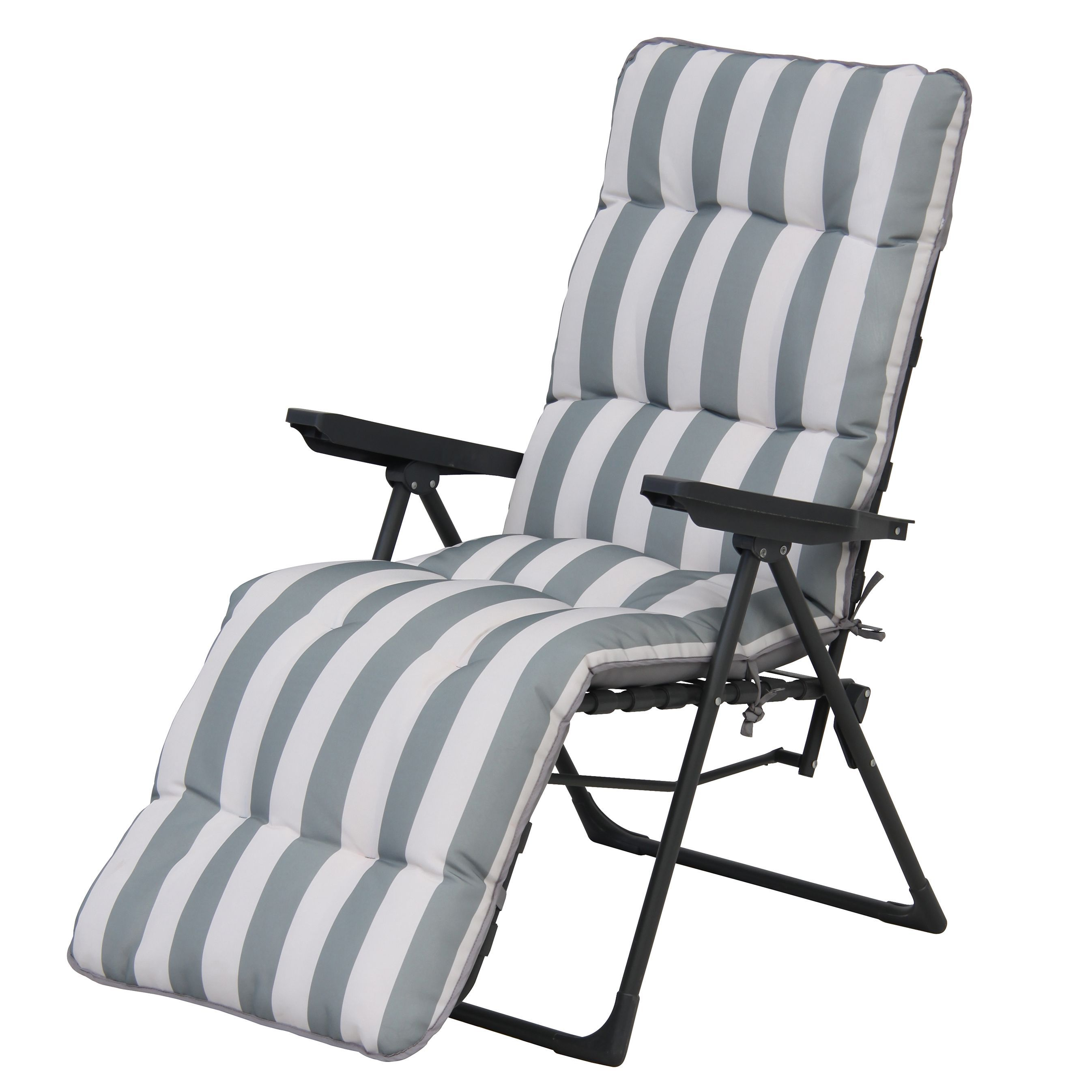 Amazing Colorado Grey Metal Relaxer Departments Diy At Bq Lamtechconsult Wood Chair Design Ideas Lamtechconsultcom