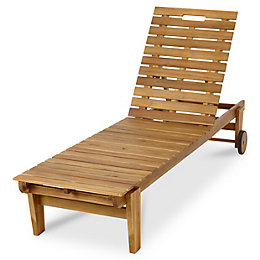 Denia Wooden Sun lounger