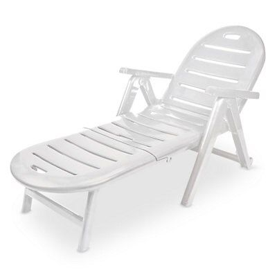 plastic sun lounger departments diy at b q. Black Bedroom Furniture Sets. Home Design Ideas