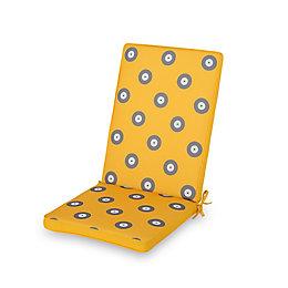 Kinaros Grey & yellow Spot High back seat