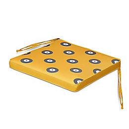 Kinaros Goldenrod & Grey Spot Seat Pad