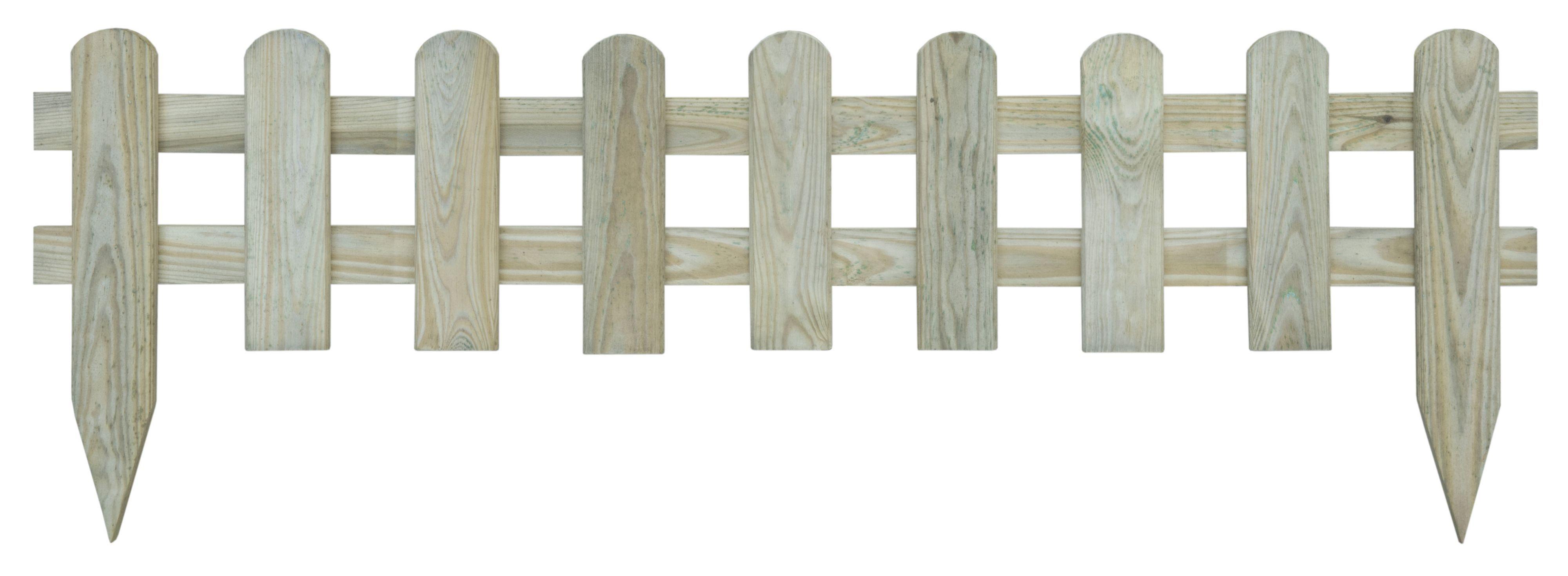 Blooma Tsugaru Round Top Picket Fence W 1 1 M H 0 25m