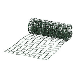Green High-density polyethylene (HDPE) Mesh screen (H)500mm (L)5m