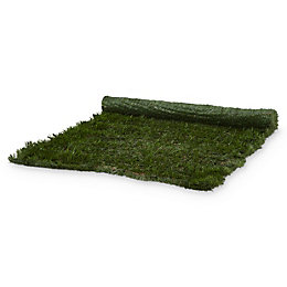 PVC & metal Green Artificial hedge screen (H)1m